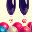 Goblet, wine, spirits for Christmas — Stock Photo
