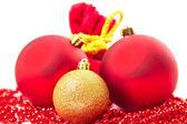 Christmas balls fir cones — Zdjęcie stockowe