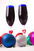 Goblet, wine, spirits for Christmas Valentine's Day — Stock Photo