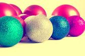 Weihnachten Kugeln Tanne Kegel — Stockfoto