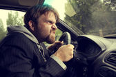 Man driving a car — Stock Photo