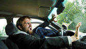 Man in a car accident — Stock Photo