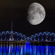 Bridges of Riga in the moonlight — Stock Photo #41853753