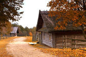 Antique wooden village in the heart of Europe — Stock Photo