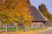 Antique wooden village in the heart of Europe — Stock fotografie