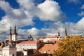 Tallinn city street in autumn — Stock Photo