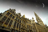 Brussels night. Elements of this image furnished by NASA — Stock Photo