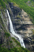 Waterfall fjord — Stock Photo