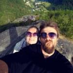 Newlyweds honeymoon vacation — Stock Photo #49059619