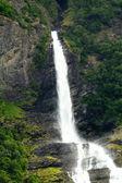 Waterfall fjord — Stock Photo