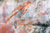 Arte rupestre ubirr homem — Foto Stock