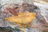 Arte rupestre ubirr peixe — Foto Stock