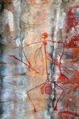 Arte rupestre ubirr mabuyo — Foto Stock