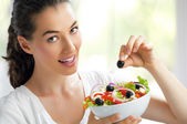 Eating healthy food — Stock Photo