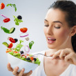 Foto Stock: Eating healthy food
