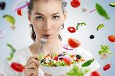 吃健康食品 — 图库照片