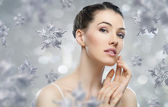 Snowflake girl — Stock Photo
