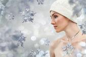 Snowflake girl — Stock Photo