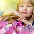 Foto Stock: Flower girl
