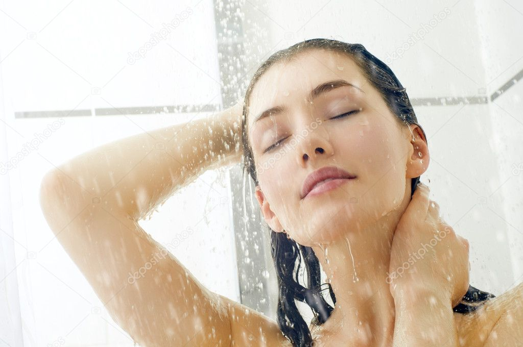 wet girl is getting penetrated after taking shower  408071