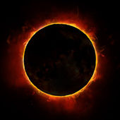 Sun eclipse — Stock Photo
