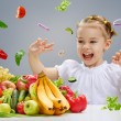 Eating fresh fruit — Stock Photo #36830283