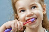 Teeth brushing — Stock Photo