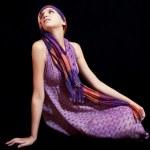 Beautiful young woman in sundress — Stock Photo #18859273