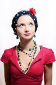Mulher jovem e bonita em véu — Foto Stock