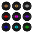 Set of nine vinyl records isolated — Stock Photo #22038883