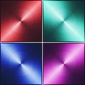 赤、緑、青および紫色の金属のテクスチャ — ストック写真