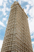 Gopuram tower in the temple of Shiva — Stock Photo
