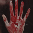 Human hand with blood. — Stock Photo