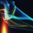 Abstract colorful smoke on a black background — Stock Photo