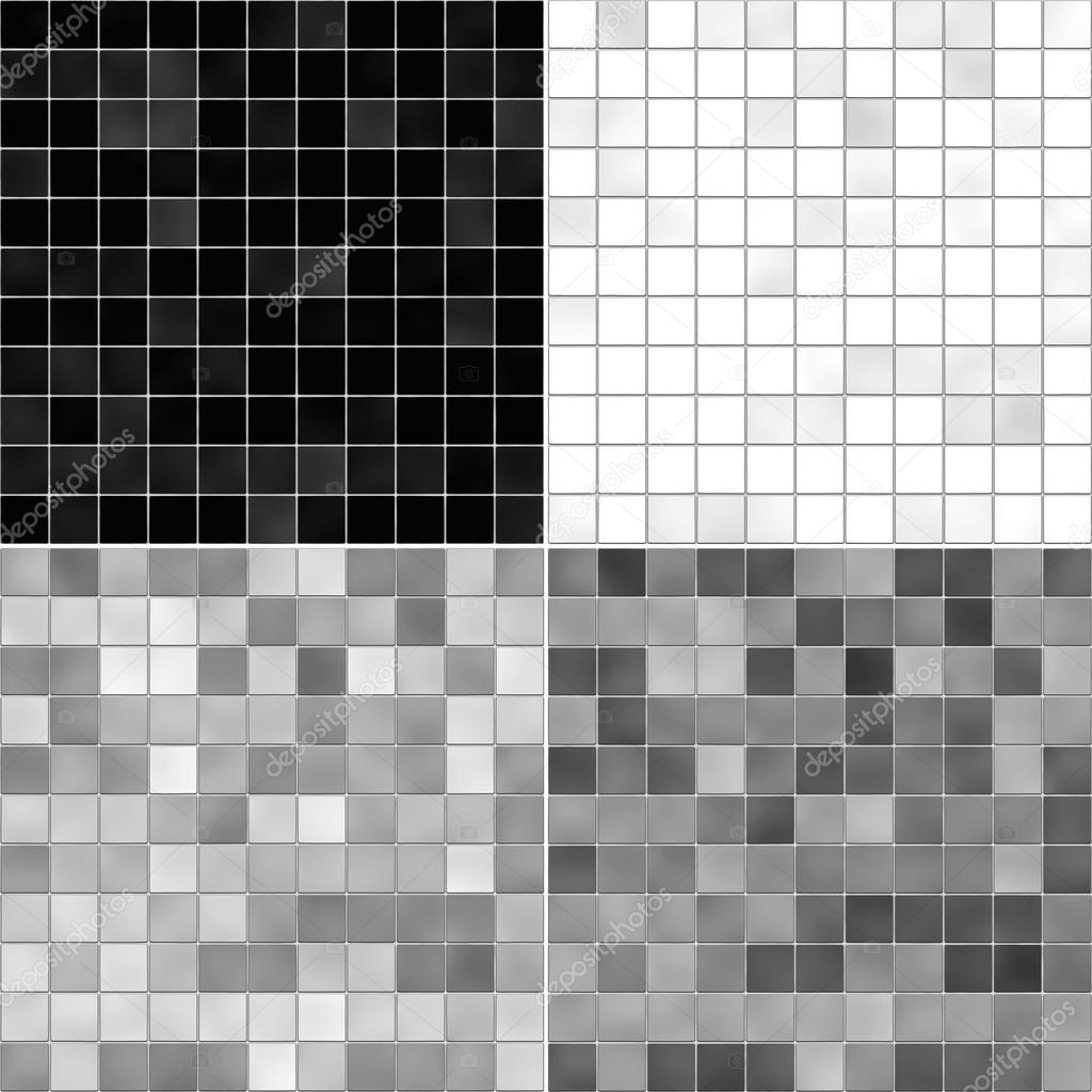 Baño Blanco Piso Gris:textura conjunto azulejo de piso blanco, gris y negro — Foto stock