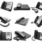 Set of Black IP office phone isolated — Stock Photo #44935503