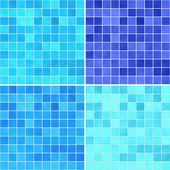 Set of textures Blue tile floor — Stock Photo