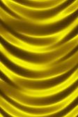 Golden shiny silk curtain close up — Stock Photo