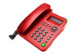 Red IP office phone isolated — Stock Photo