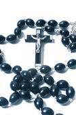 Katolska rosenkransen med krucifix — Stockfoto
