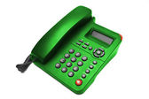 Green IP office phone isolated — Stock Photo
