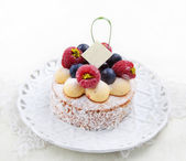 Tasty berry cake — Stock Photo