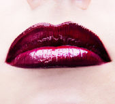 Lips with lipstick — Stock Photo