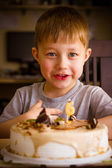 Boy in his birthday — Stock Photo