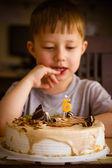 Boy in his birthday — Stock Photo