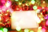 Noel ışıkları çerçeve — Stok fotoğraf