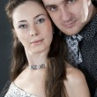 Relations of the loving Couples in Solemn Clothes on a white bac — Stock Photo #8108396