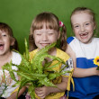 Cheerful children in a kindergarten summer. — Stock Photo #8773769