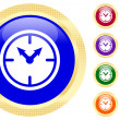 Icon of clock — Stock Vector #1620326