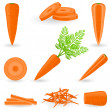 Icon set Carrot — Stock Vector #29107677